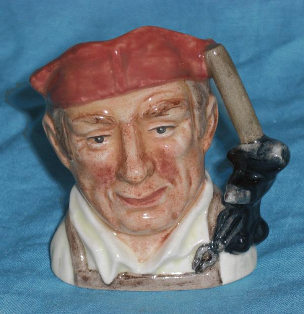Royal Doulton Blacksmith Toby Williamsburg   6585 Mini 1962