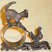 Victorian Figural Silver Plate Napkin Ring C 1880 -1900