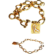 Gold Fill charm bracelet with 10K solid gold charm LGB Balfour
