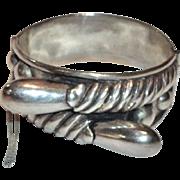 Jose Anton Sterling Silver Bracelet Taxco Mexico  C 1930's – 1940's