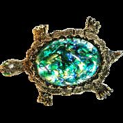 Dodd's 11 W 30 ST Inc  Art Glass Rhinestone Turtle Brooch