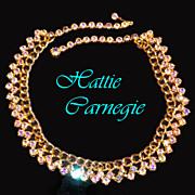 Hattie Carnegie Aurora Borealis Rhinestone Necklace