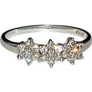 14K White Gold Diamond Engagement Ring  Size 7