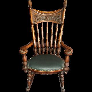 Fabulous Antique Oak Rocker & Side Chair