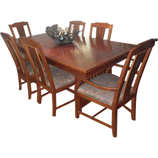 "Drexel Heritage ""American Review"" Craftsman Style Dining Room Set"
