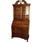 Federal Style Mahogany Block Front Secretary Desk
