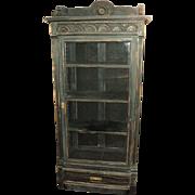 Antique Black Distressed Bookcase, Bookshelves