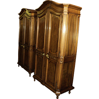 Louis XVI French Provincial Gentleman's Armoire by Karges