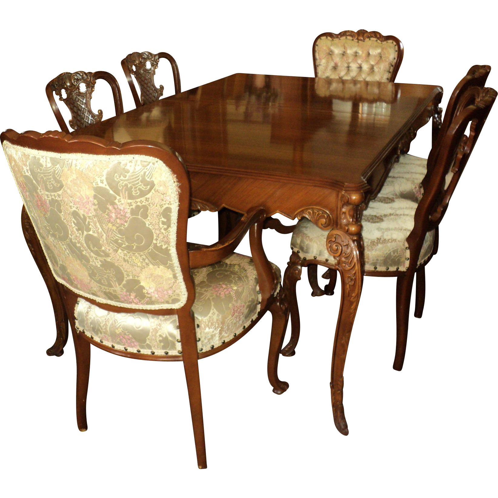 Country French Provincial 1940s Dining Room Set by Joerns