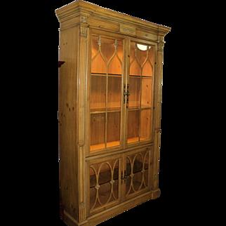 Pine China Display Cabinet by Bernhardt