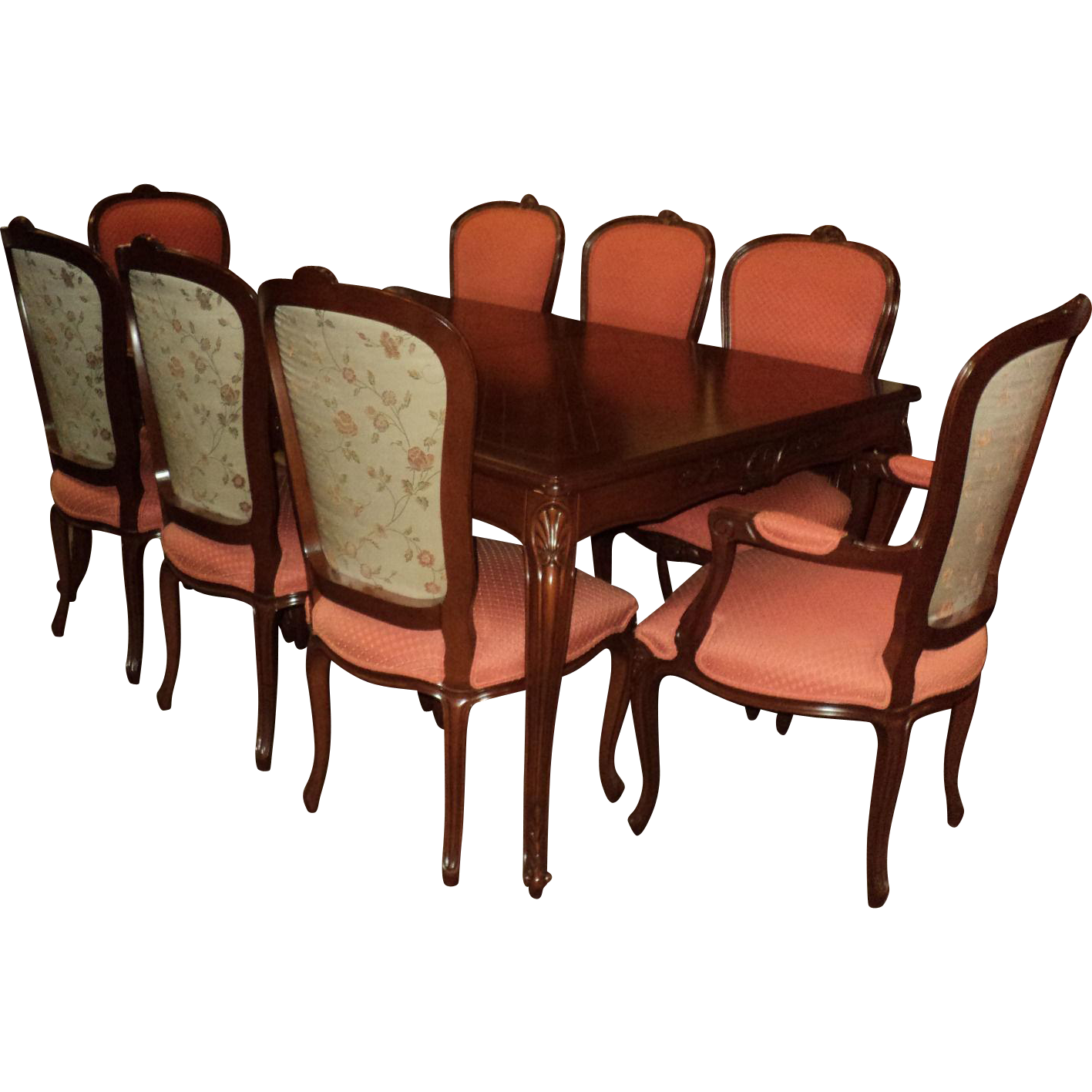 French Country Dining Room Table W Eight Chairs From