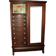 Mahogany Empire Gentleman's Chifferobe/Wardrobe