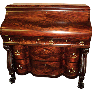 Antique Mahogany Federal Empire Desk