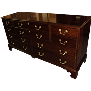 "Mahogany ""Chippendale Style"" Dresser & Night Stand by Davis Cabinet Co"