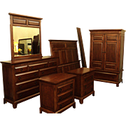 6 Piece Cherry Bedroom Set, by Davis Int'l