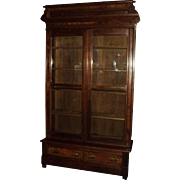 Antique Walnut Eastlake Victorian Bookcase