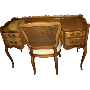 "French Provincial Vanity or Desk ""Orleans Collection"" by Dixon Powdermaker"