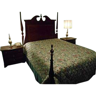 "Drexel Heritage ""Chippendale Style"" Cherry Bedroom Set, Queen Bed"
