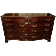 Mahogany Chippendale Style Dresser and Highboy by Kindel Furniture Co.