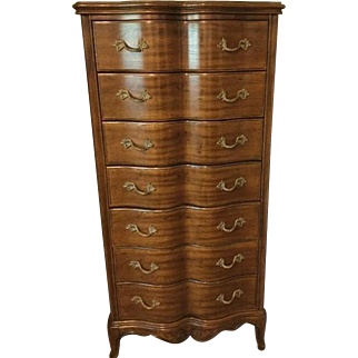 French Provincial Tall Narrow Chest of Drawers, Decor Interiors