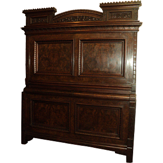 Victorian Walnut Eastlake 1880's 3 Pc Marble Top Bedroom Set