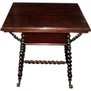 Mahogany Merklen Brothers Parlor Table, Circa 1895