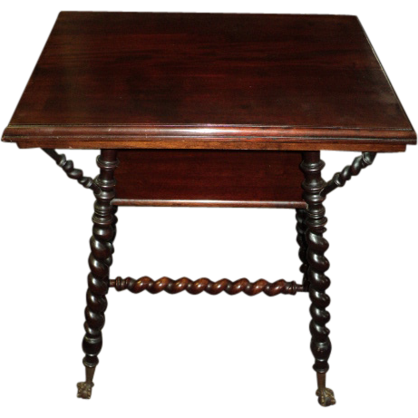 Mahogany Merklen Brothers Parlor Table, Circa 1895