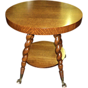 Round Antique Parlor, Lamp Table Circa 1900 #1