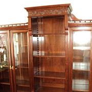 Antique Cherry Bookcase, 7-1/2 ft. Long, ON SALE!