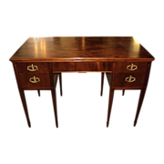 "Mahogany Writing Knee-Hole Desk + Chair, ""Hepplewhite Style"", ON SALE!"