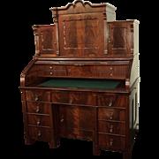 Fabulous Antique German Mahogany Roll Top Desk, circa 1860's