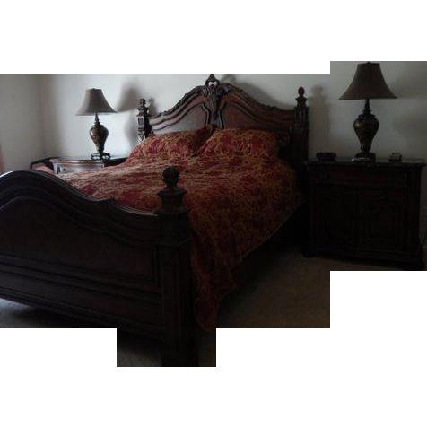 vintage drexel heritage bedroom furniture 1960s six piece set collection 1950s