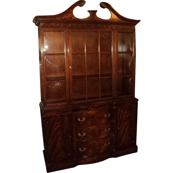 Mahogany Chippendale Style China Cabinet, Circa 1950's from ...