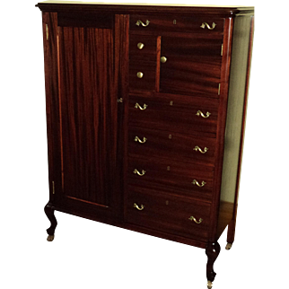 Mahogany Gentleman's Chest/Wardrobe, Early 1900's