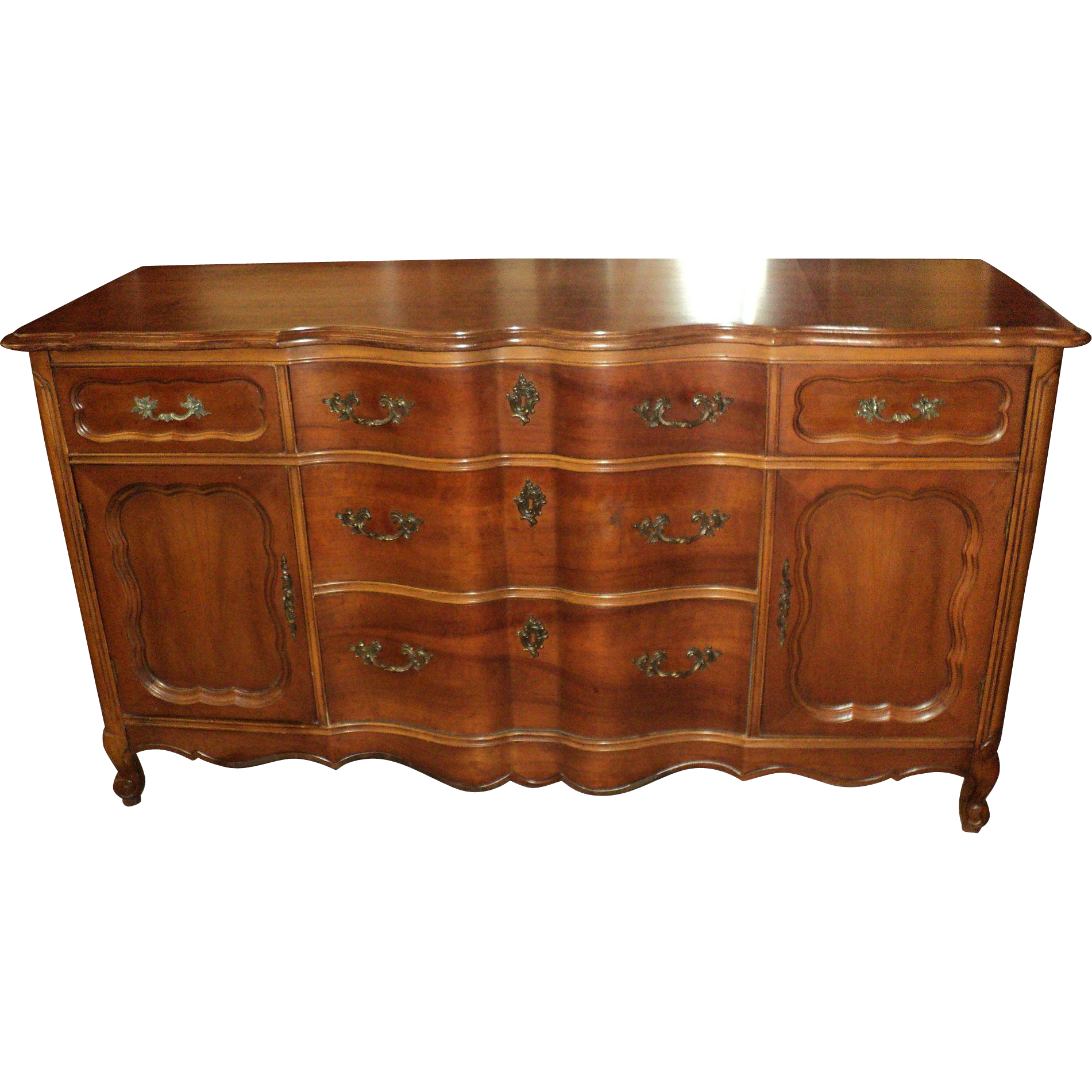 Cherry French Provincial Buffet/Sideboard Circa 1950u0027s