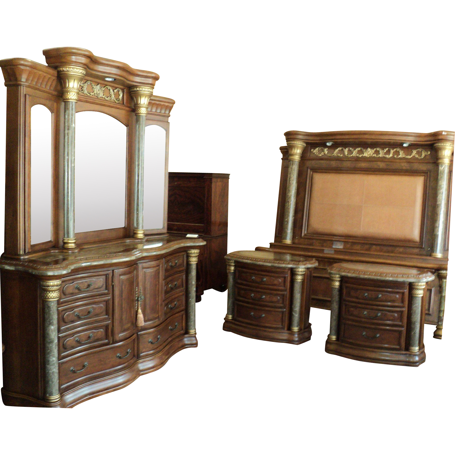 Michael Amini Bedroom Set Torino Collection By Aico From - Aico torino bedroom set