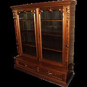 Walnut Victorian Renaissance Bookcase