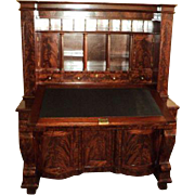 Early 1800's Empire Mahogany Secretary Desk