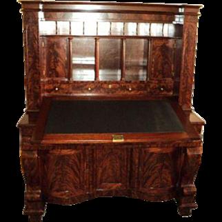Early 1800's Empire Mahogany Secretary Desk