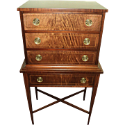 Federal Style Miniature Mahogany Inlaid Chest