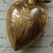 Delicious French ormolu flaming sacred heart ex voto reliquary box