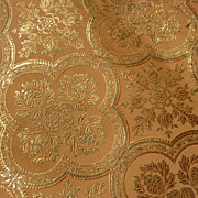 Small morceau antique luxury gold metallic and silk fabric / material