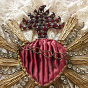 Delicious sacred heart religious embellishment paste stones