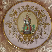 Decorative 19th C. French candy box ANGELS religious theme