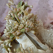 Romantic French dainty cream silk wedding shoes bow embroidery