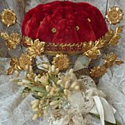 Faded grandeur French ormolu wedding cushion display cushion