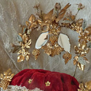 Romantic French ormolu wedding cushion display stand dove