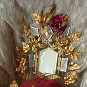 Gleaming 19th C. French ormolu wedding display stand  star bird motifs