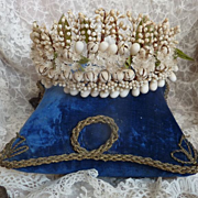 Delicious 19th C. French  Bride's wax wedding tiara crown orange blossom