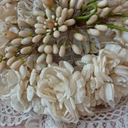 Delicious French bride's floral wedding crown roses 1900's